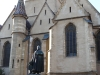 Sibiu - Catedrala Evanghelica - Statuia episcopului Teutsch